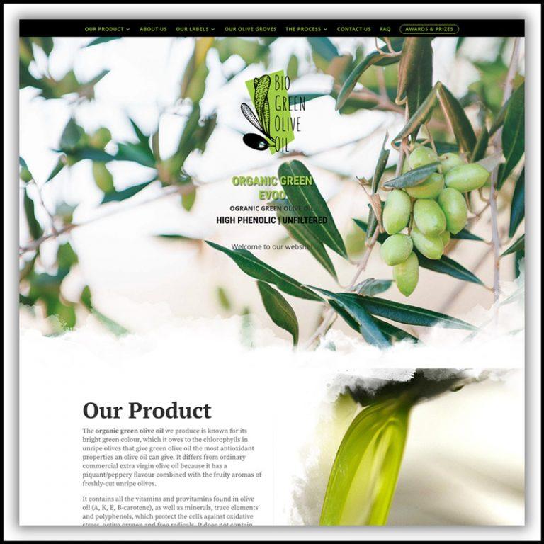 Bio Green Olive Oil – Branding & Website Design